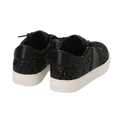 Zapatillas color negro con lentejuelas , Primadonna, 162619071PLNERO035, 004 preview