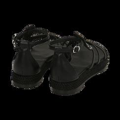 Sandali neri in laminato, Primadonna, 154965221EPNERO036, 004 preview