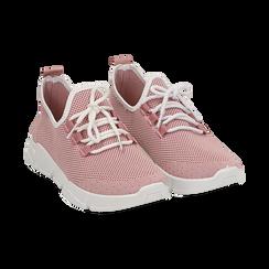 Sneakers nude in tessuto tecnico, Scarpe, 159715007TSNUDE036, 002 preview