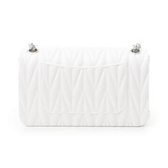 Mini-bag bianca in pvc, Primadonna, 137409999PVBIANUNI, 003 preview