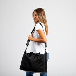 Borsa Maxi-Bag a mano nera in tessuto, Primadonna, 122300313TSNEROUNI, 005 preview