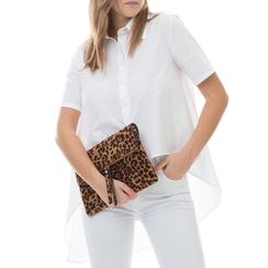 Pochette leopard in microfibra, Borse, 133308136MFLEOPUNI, 002a