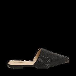 WOMEN SHOES SABOT MICROFIBER STONES NERO, Zapatos, 154921861MPNERO036, 001a