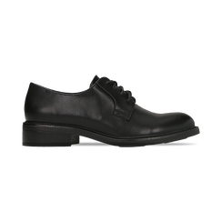 Francesine stringate nere, stile urban, Scarpe, 120618201EPNERO, 001 preview