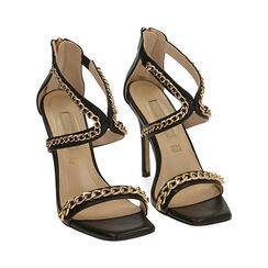 Sandali neri, tacco 11 cm , Primadonna, 172114217EPNERO035, 002 preview