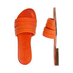 Ciabatte arancio in pelle, Primadonna, 177204903PEARAN035, 003 preview