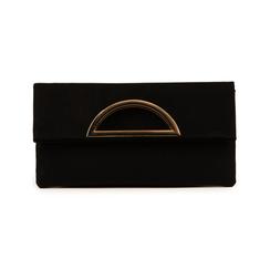 Pochette noir en microfibre, Sacs, 155108717MFNEROUNI, 001 preview