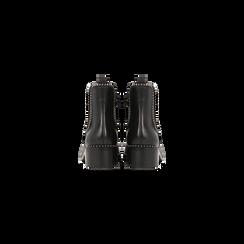 Chelsea Boots neri con mini-borchie, tacco basso, Scarpe, 129309823EPNERO, 003 preview