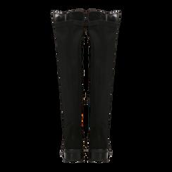 Stivali neri scamosciati con gambale alto sopra il ginocchio, tacco 3 cm, Primadonna, 122808641MFNERO, 003 preview