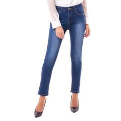 Jeans blu skinny effetto délavé, Primadonna, 14B411012TSBLUE3XL, 001a