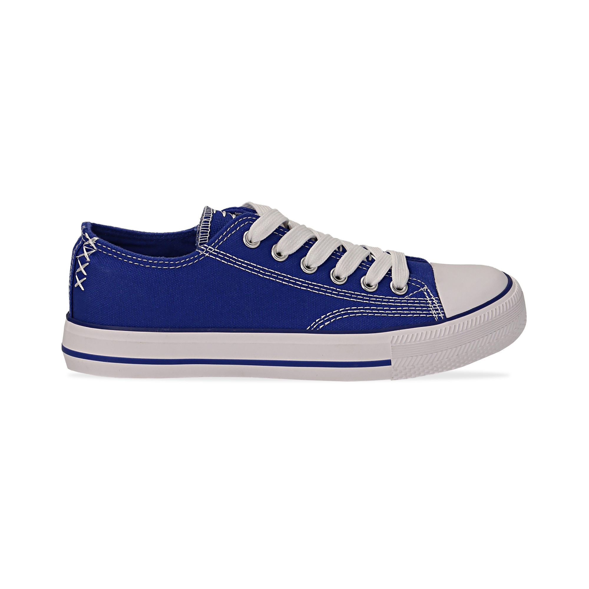 Sneakers blu in canvas