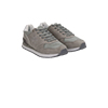 Sneakers grigie in microfibra