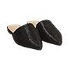 WOMEN SHOES SABOT MICROFIBER STONES NERO