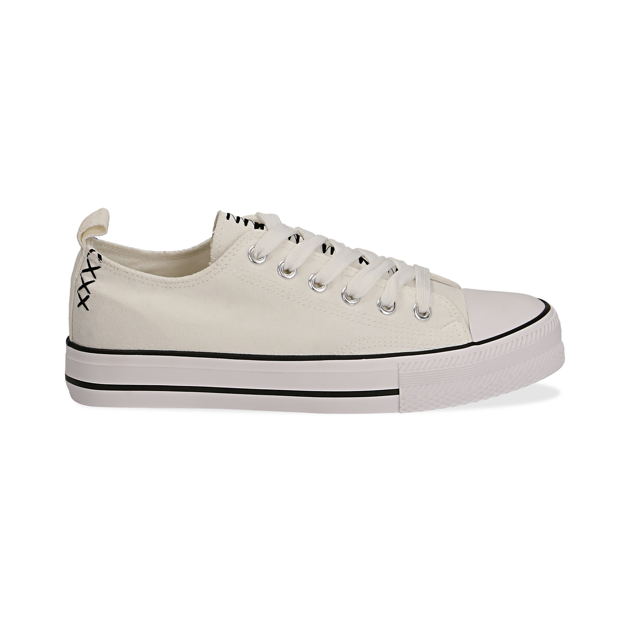 Sneakers bianche in canvas