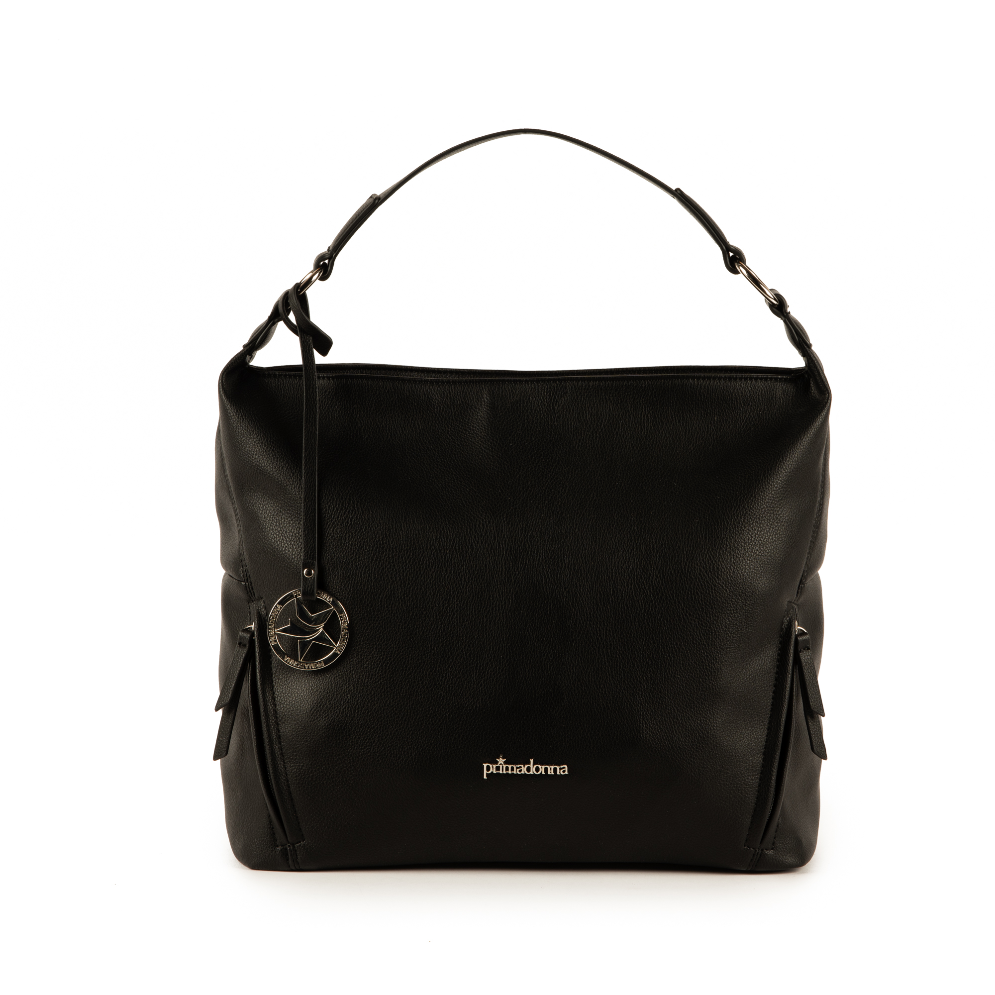 Maxi-bag de ecopiel en color negro