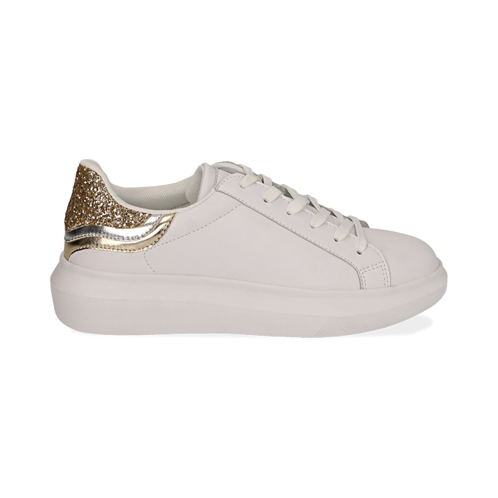 Sneakers blanco/oro