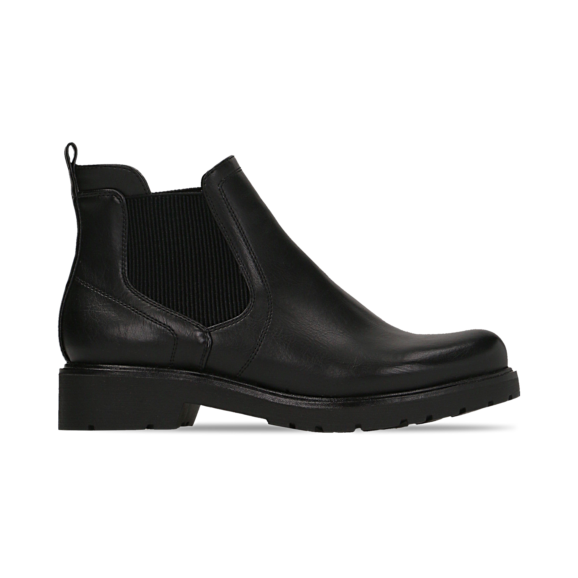 Chelsea boots neri in eco-pelle