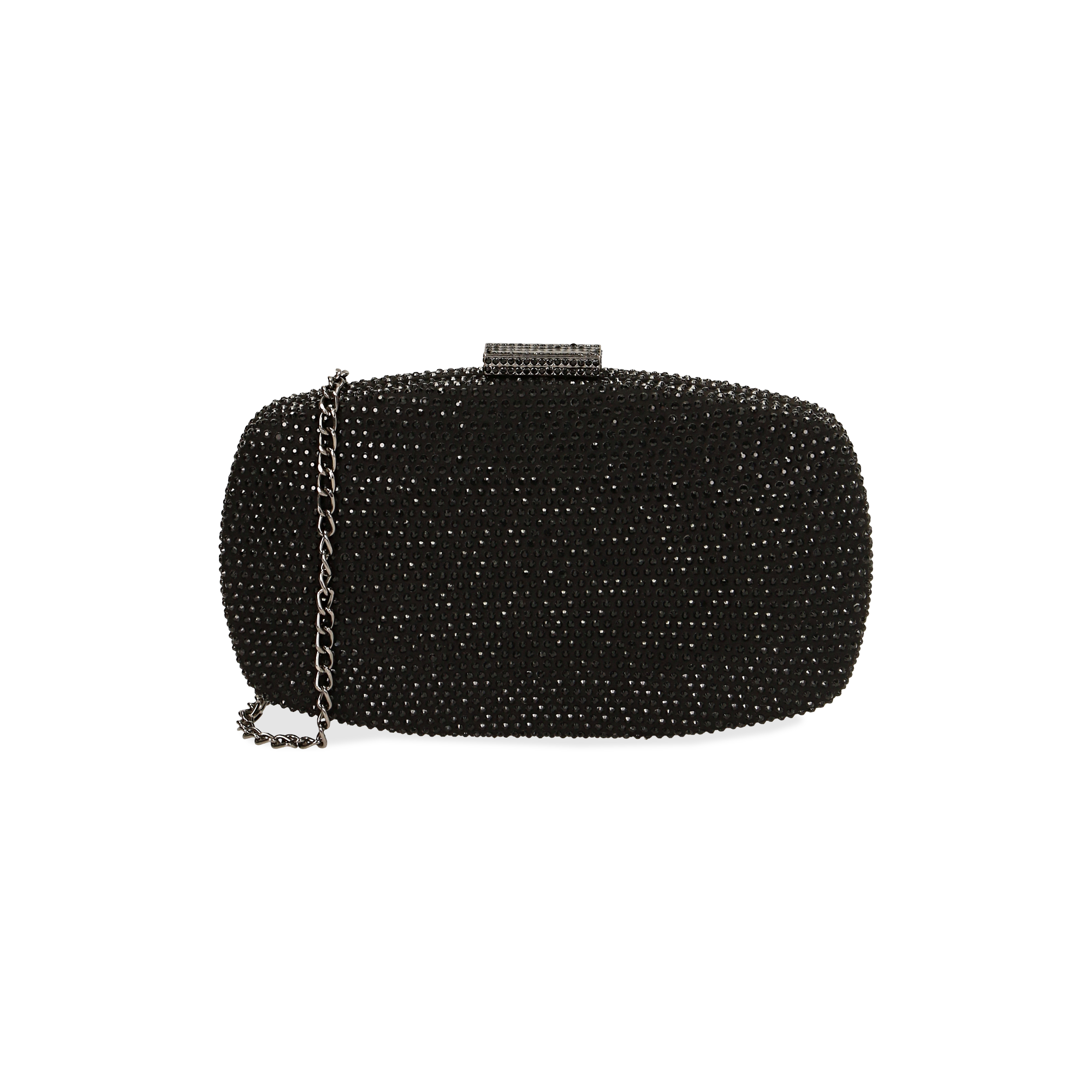 Clutch joya en microfibra color negro