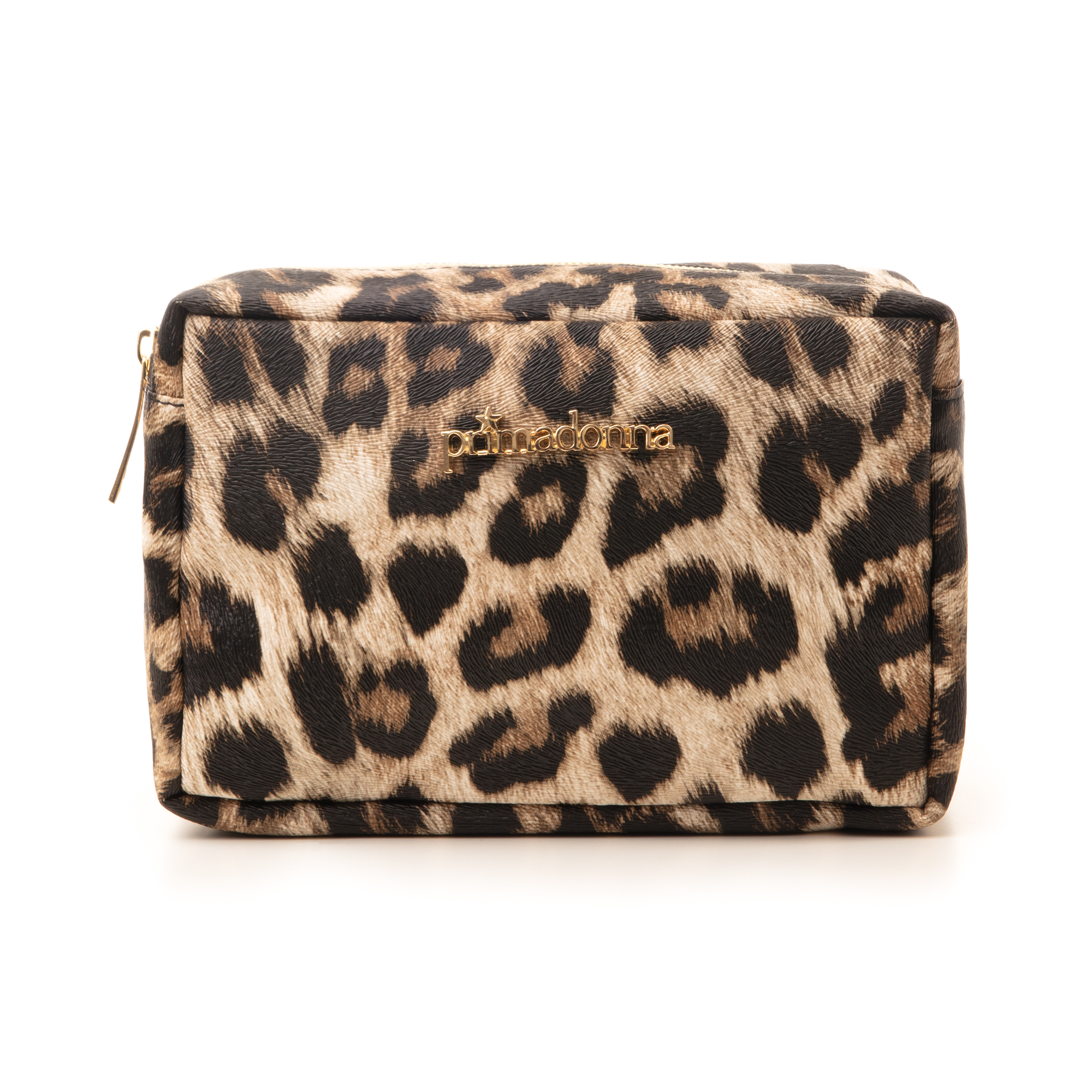 Trousse leopard print in eco-pelle