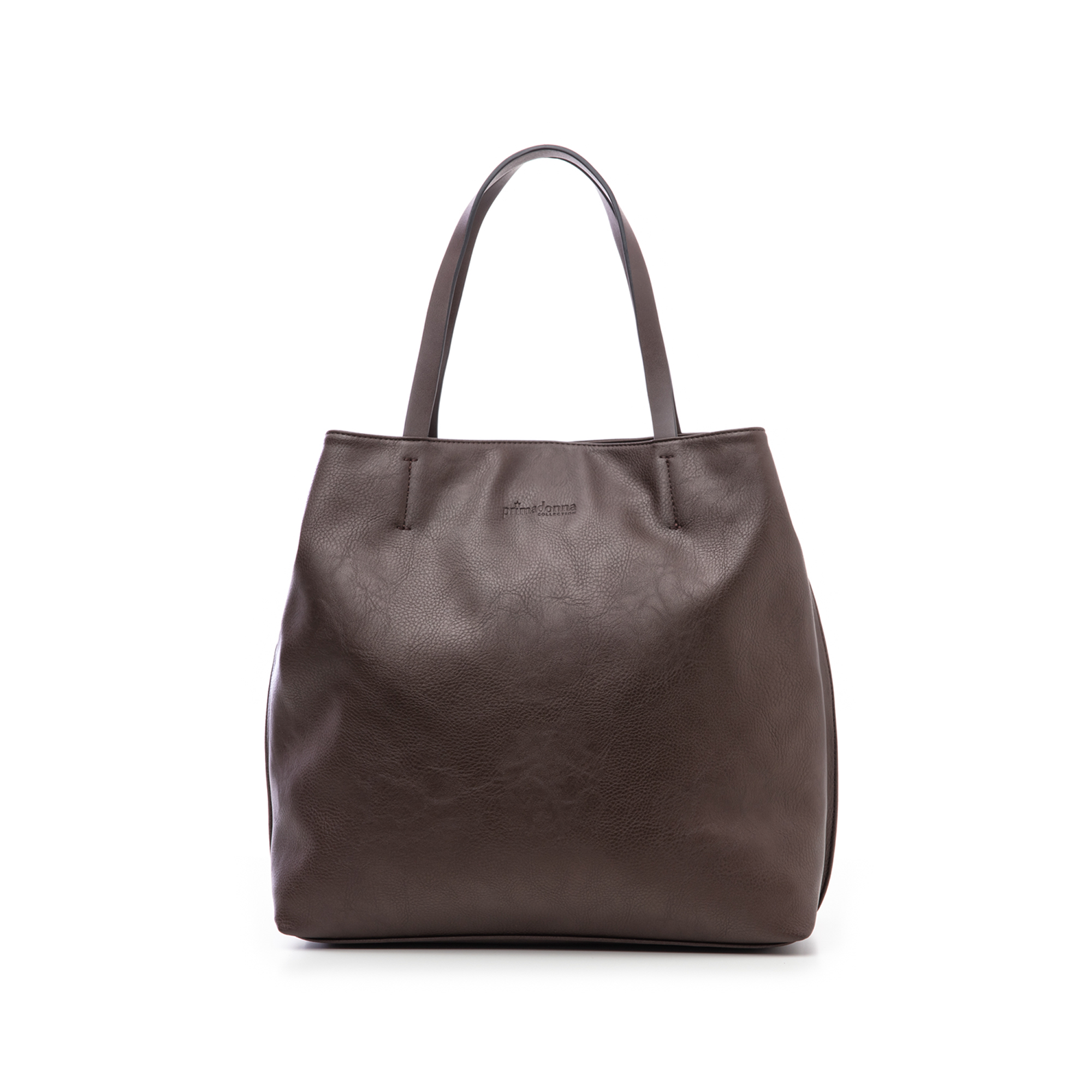 Borsa grande marrone in eco-pelle