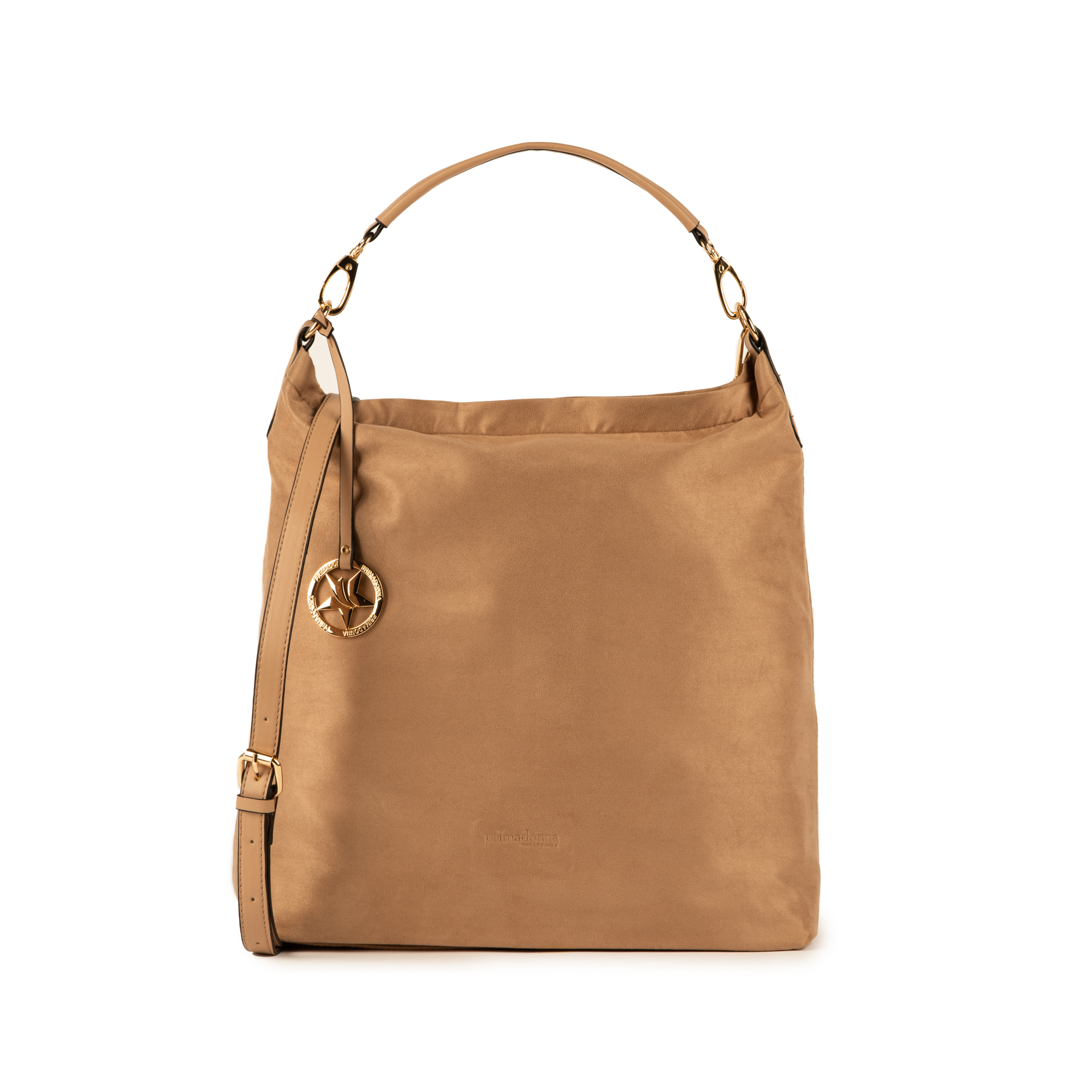 Maxi-bag beige in microfibra