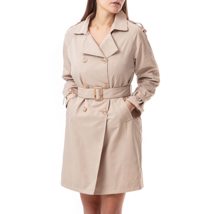 Trench beige in tessuto