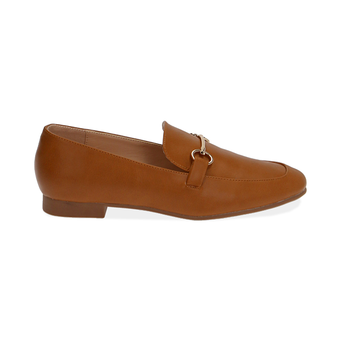 Mocasines cognac