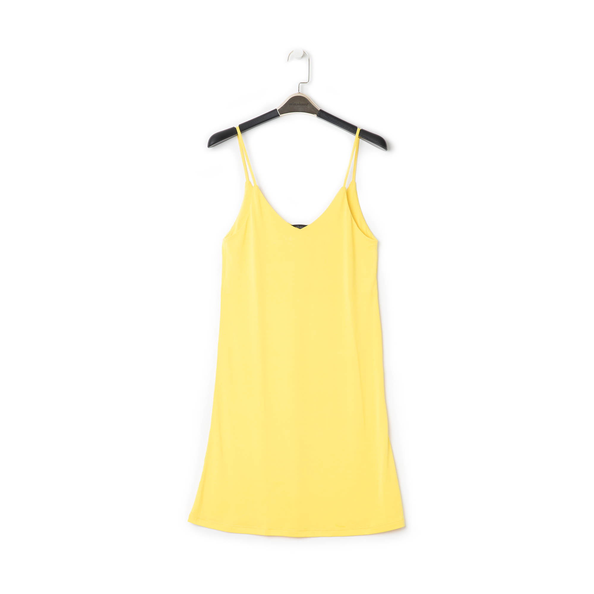 Mini-dress giallo con scollo a V