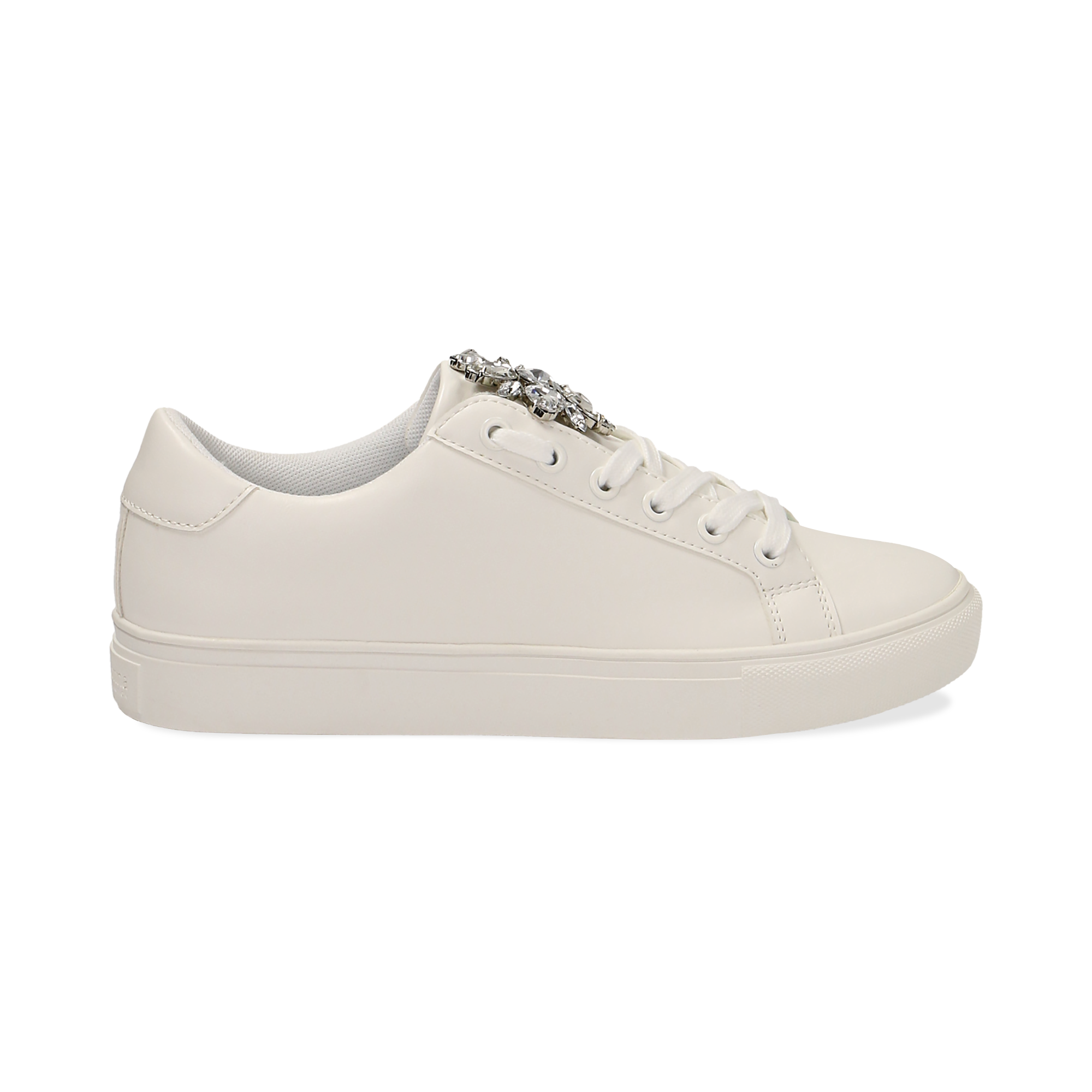 Sneakers Sneakers Donna Bianche Eco Pelle E Gemme Primadonna