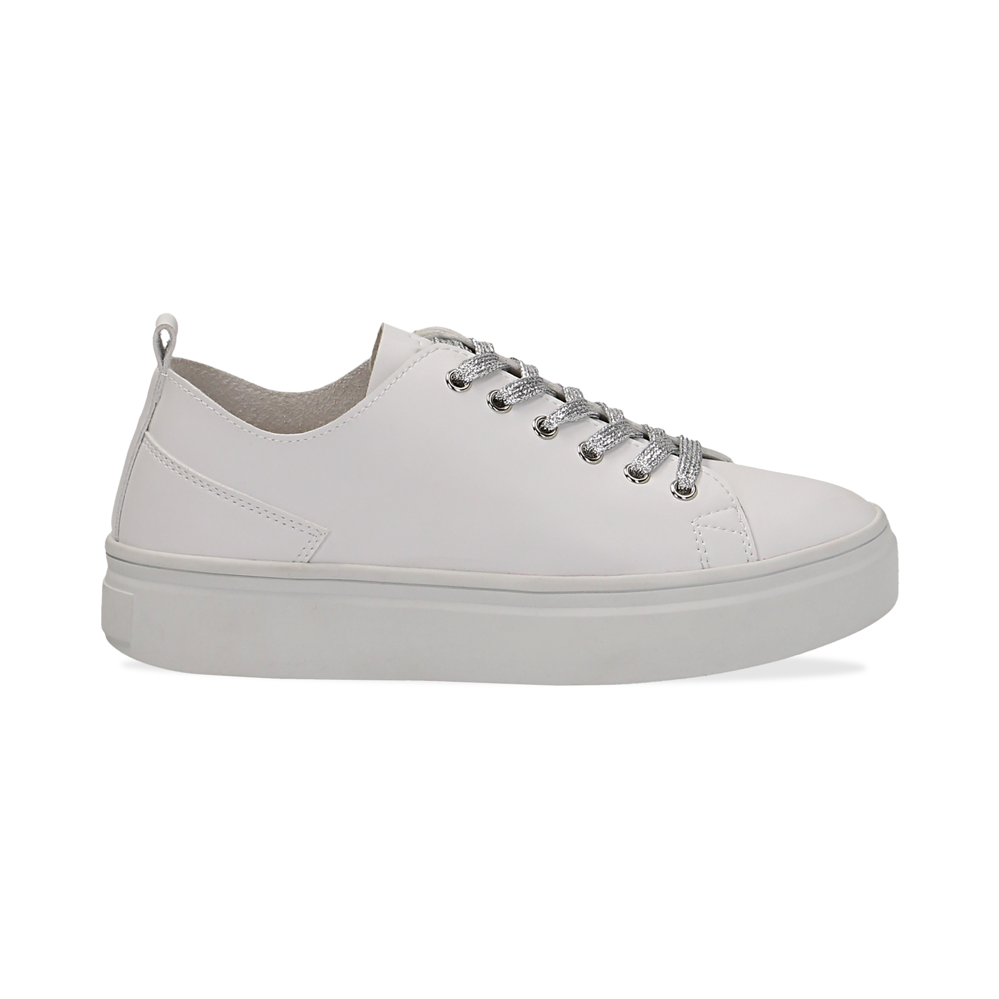 Sneakers de eco-piel color blanco