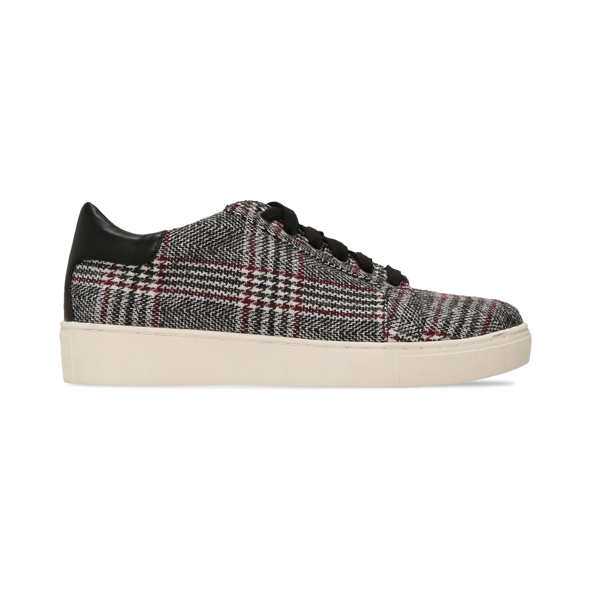 Sneakers Tweed con tacco basso