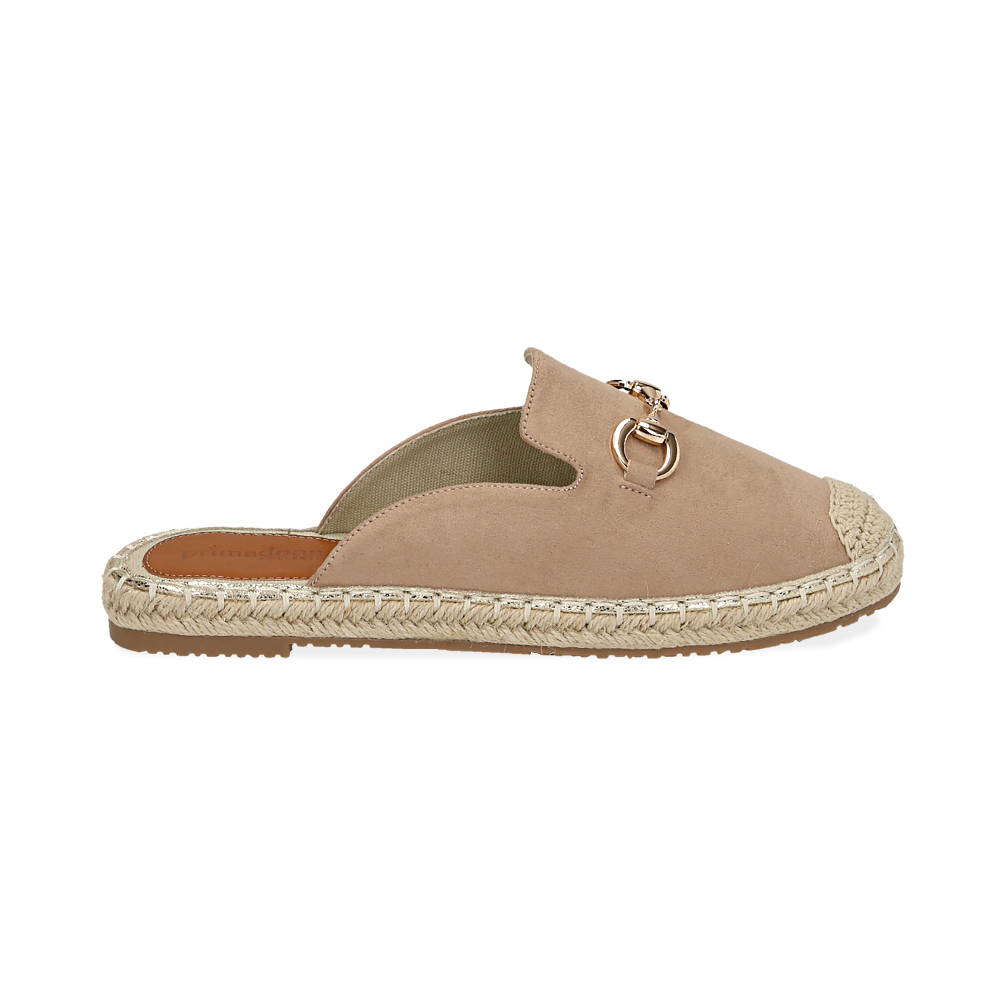 Slippers beige in microfibra