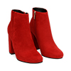 Ankle boots rossi in microfibra, tacco 9 cm