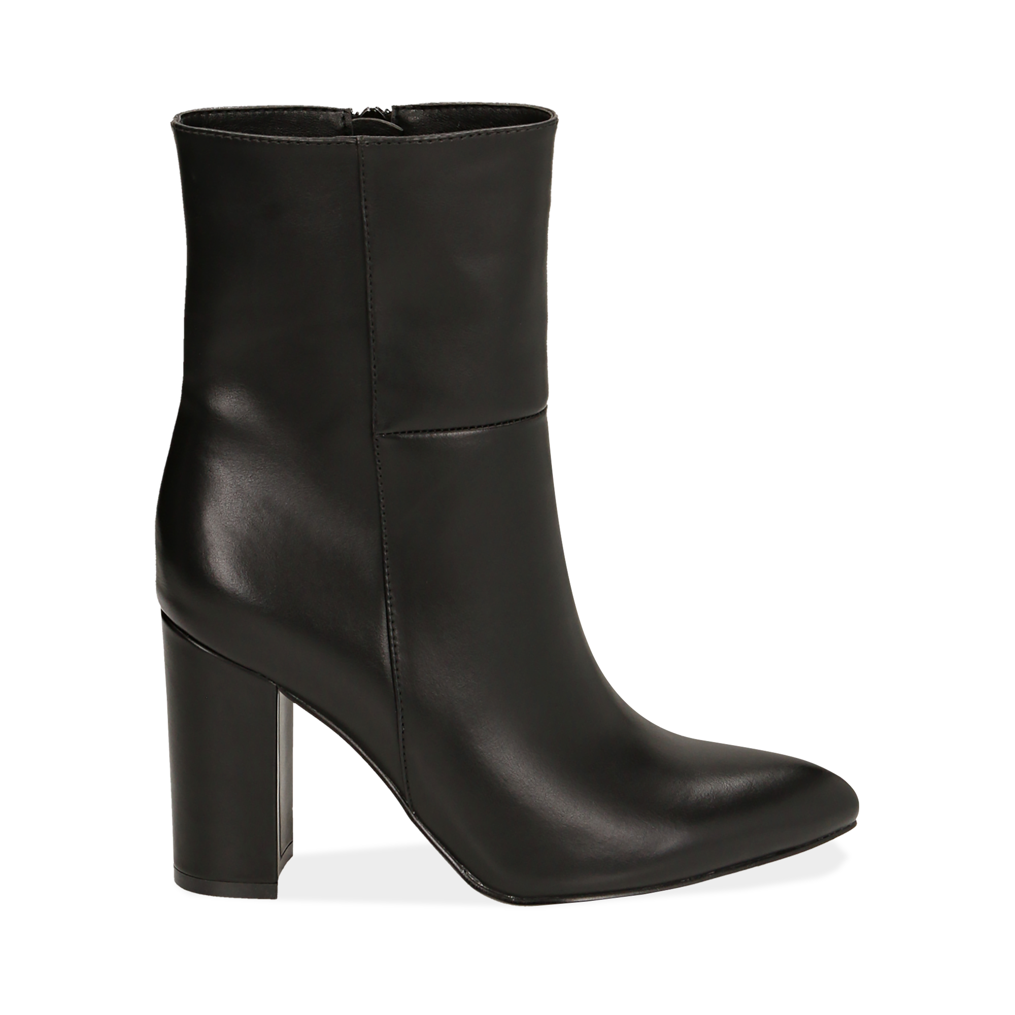 Ankle boots a punta neri, tacco 9,50 cm