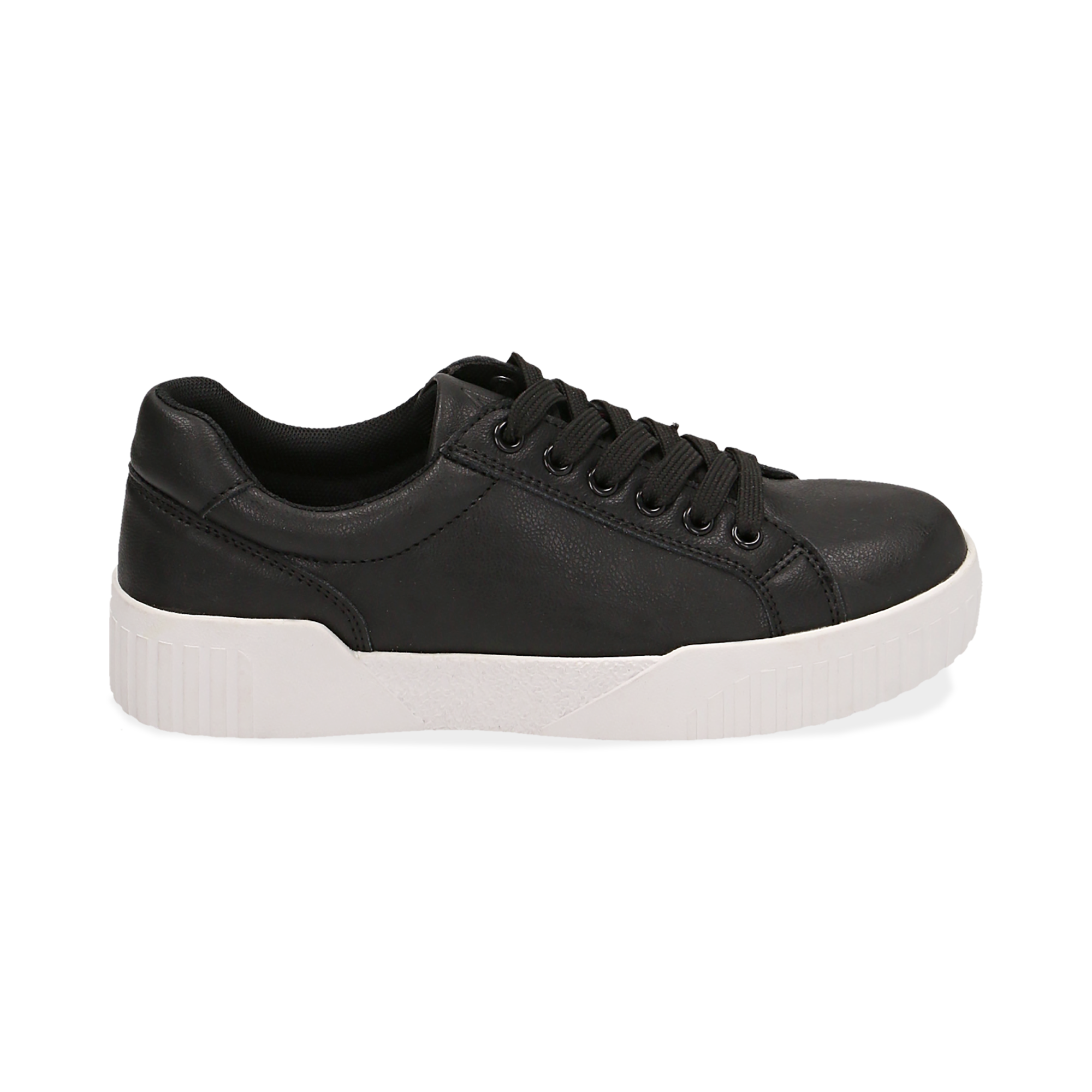 Sneakers en eco-piel color negro