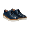 Stringate flatform blu in eco-pelle