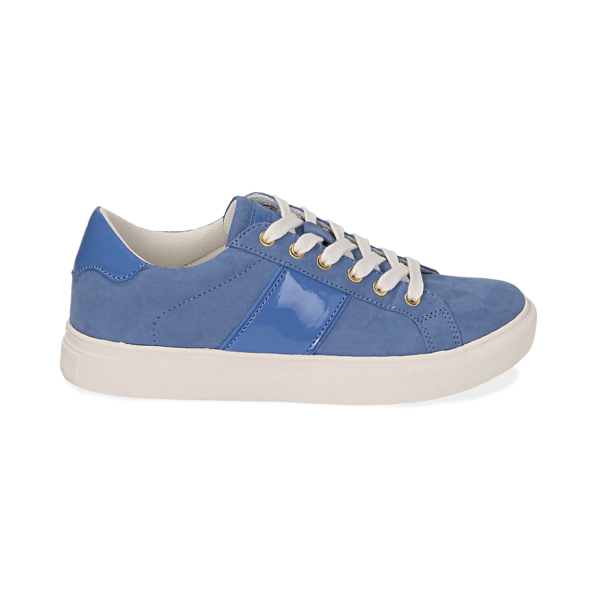 Sneakers de microfibra en color azul