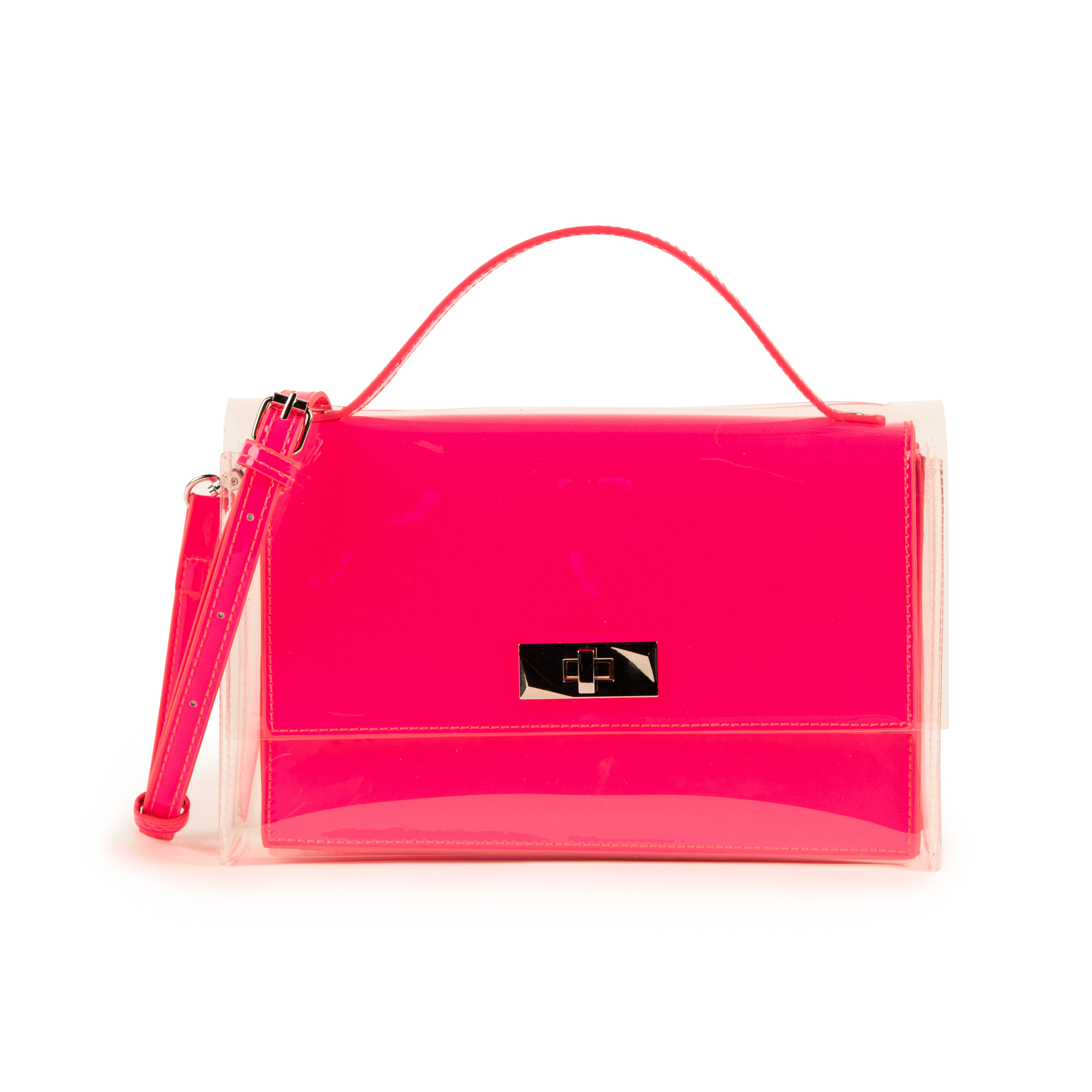 Mini bag fucsia in vernice e pvc