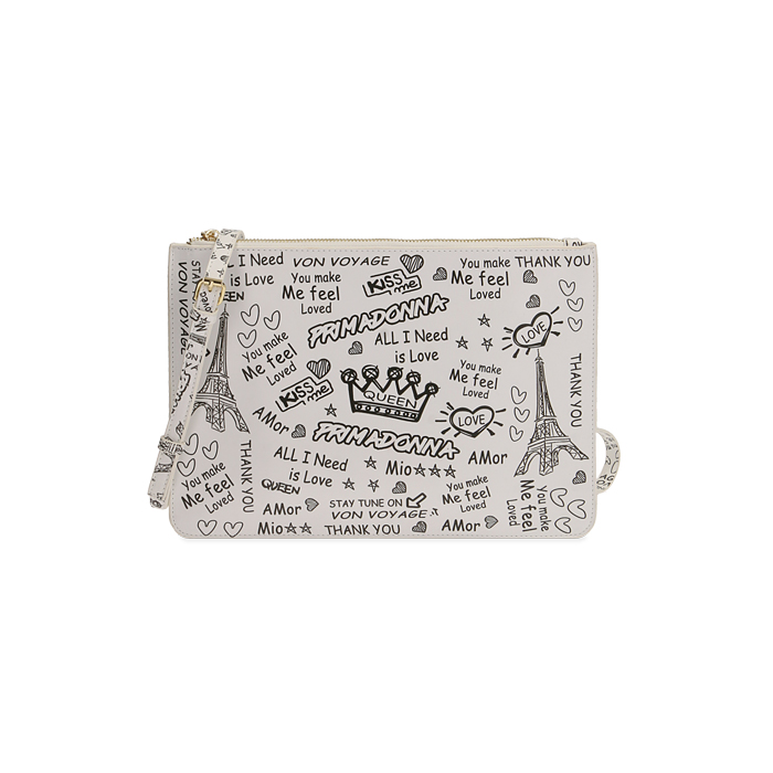 Pochette bianca cartoon
