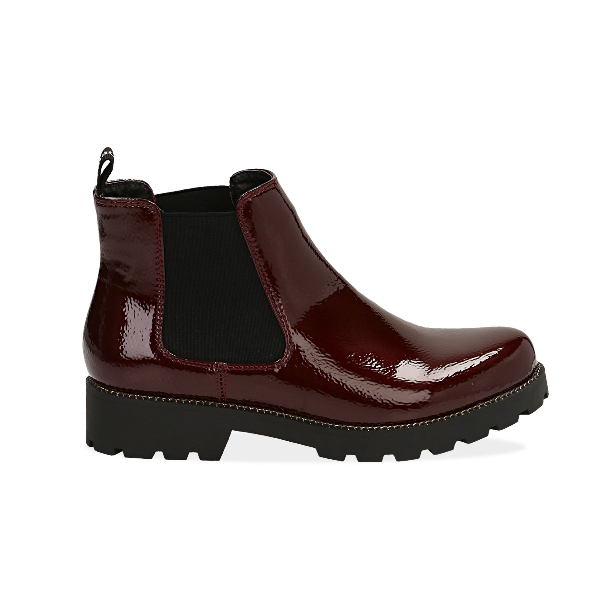 Chelsea boots bordeaux in vernice