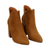 Ankle boots cuoio in microfibra, tacco 9 cm