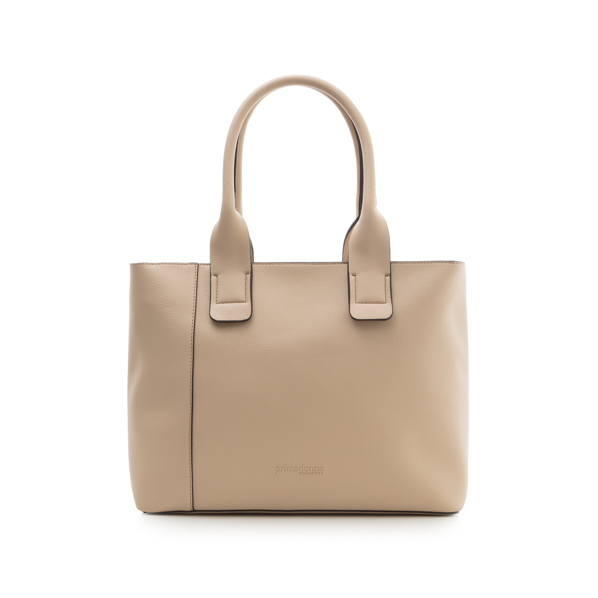 Borsa media beige in eco-pelle