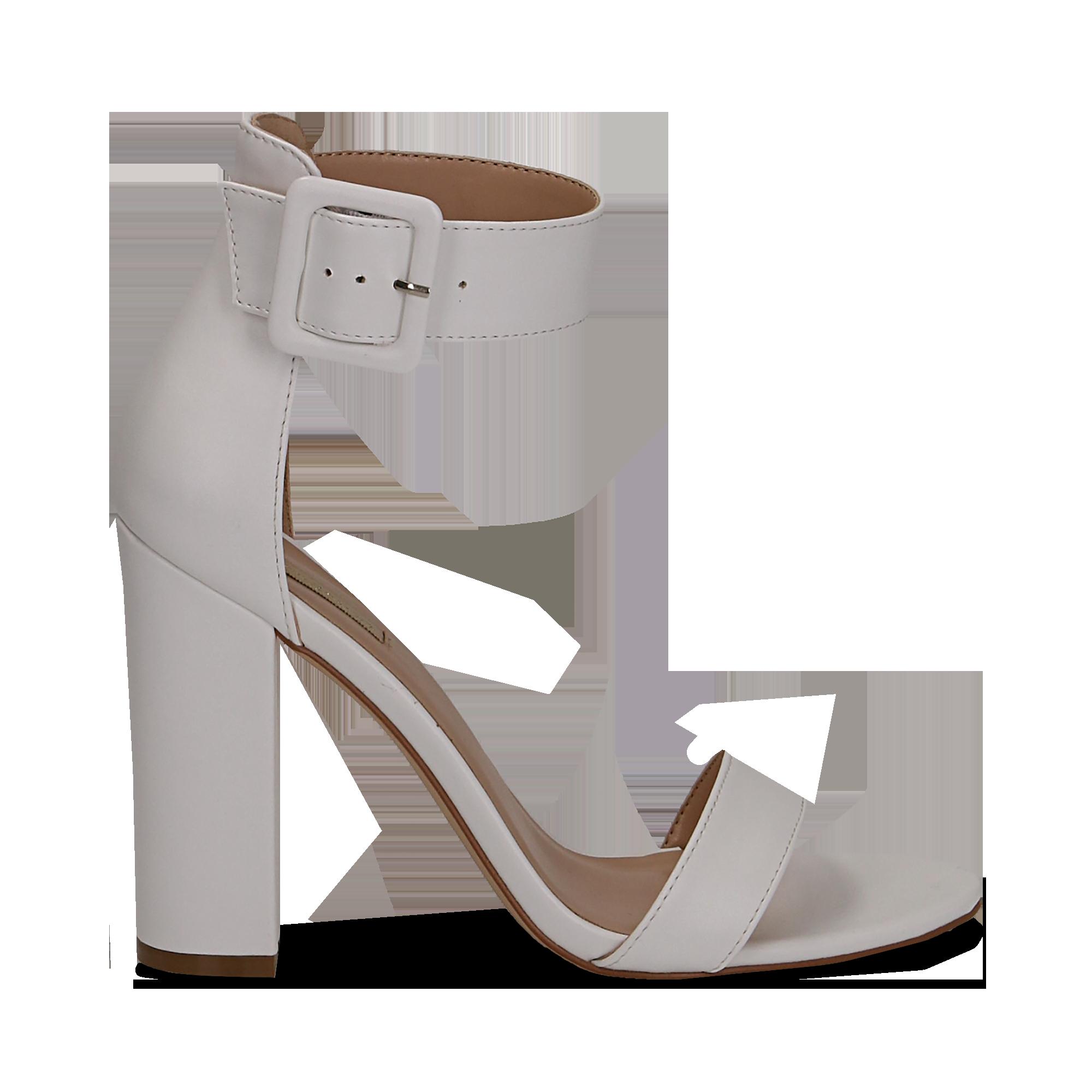 10277601a9df 12 Sandali bianchi in eco-pelle