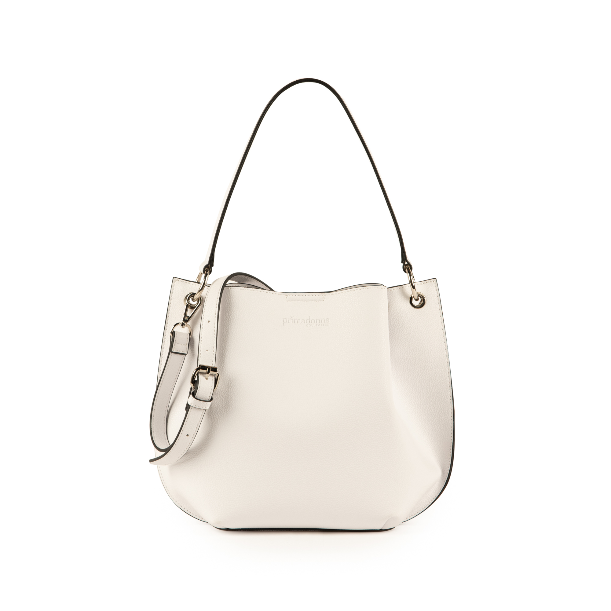 bolso hobo en eco piel color blanco