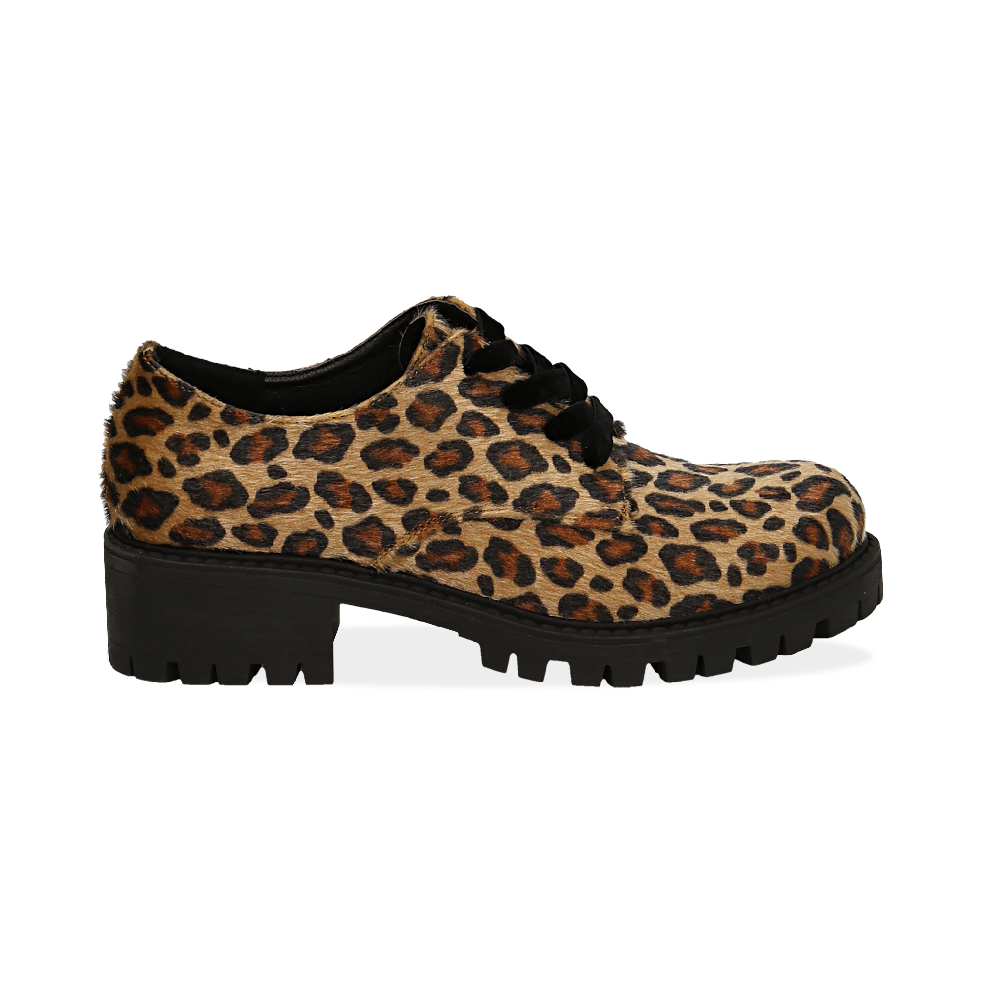 Stringate leopard in eco-cavallino