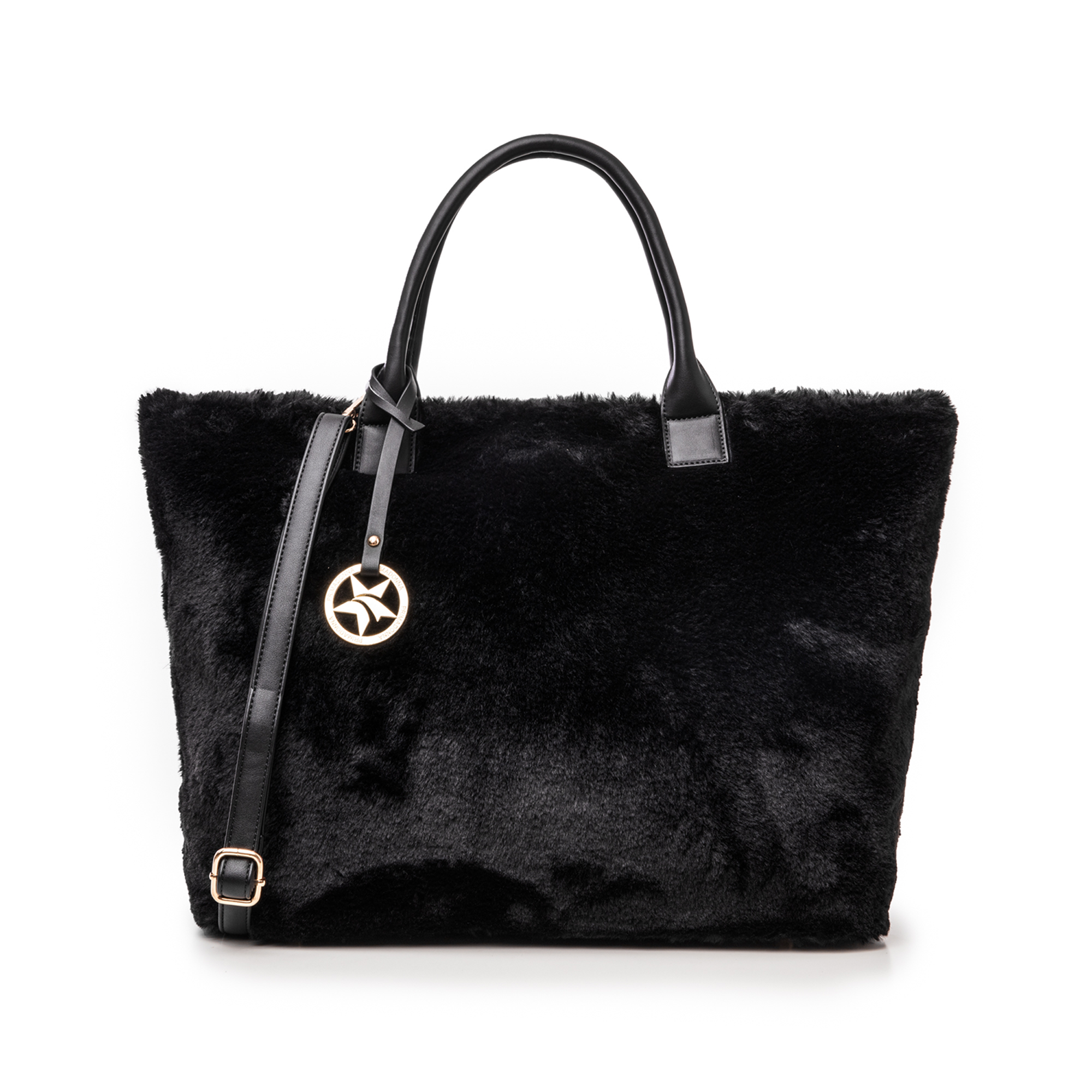 Borsa nera in eco-fur