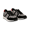 Sneakers leopard nere in eco-cavallino