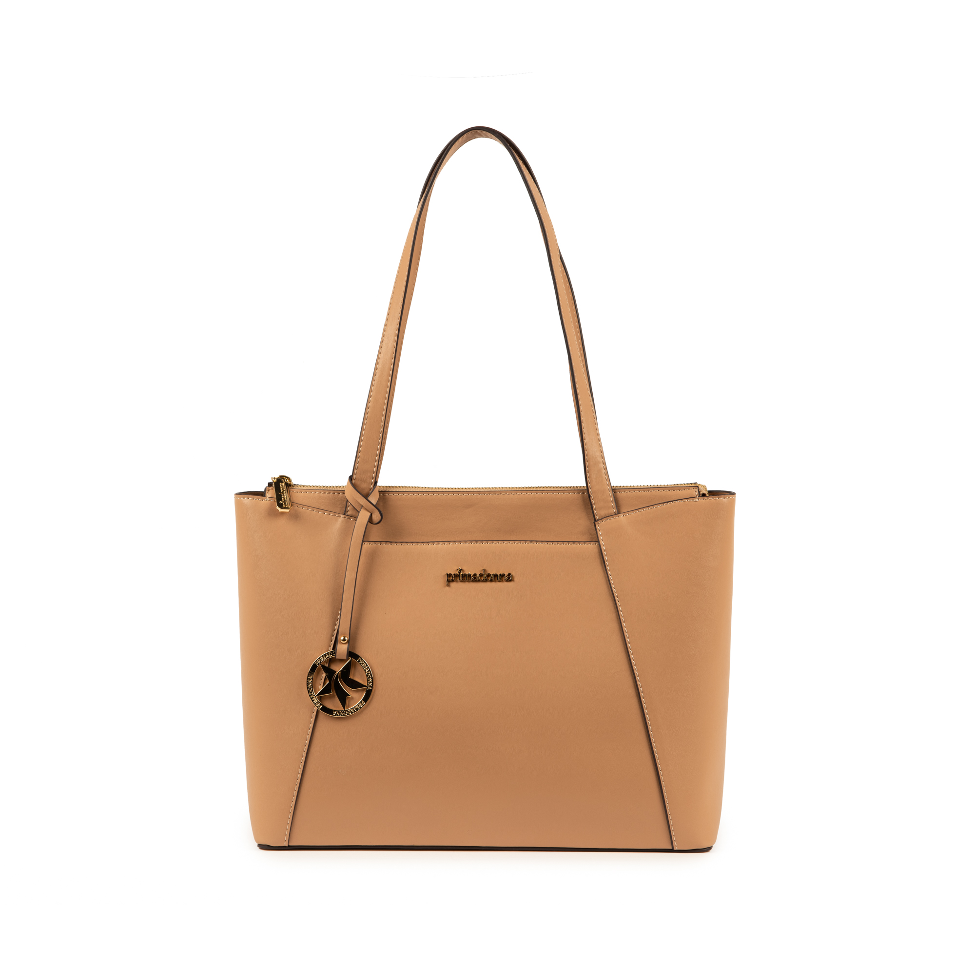 Maxi-bag de ecopiel en color nude