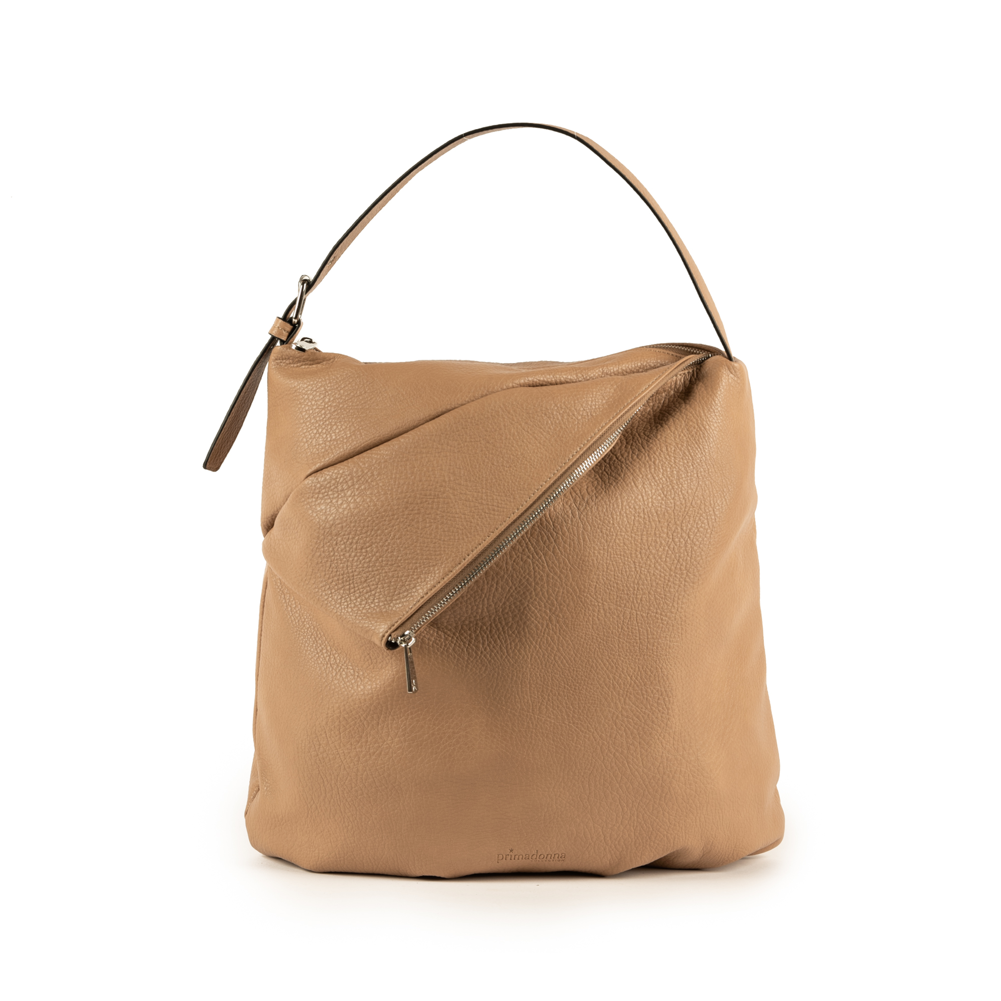 Maxi-bag de ecopiel en color beige