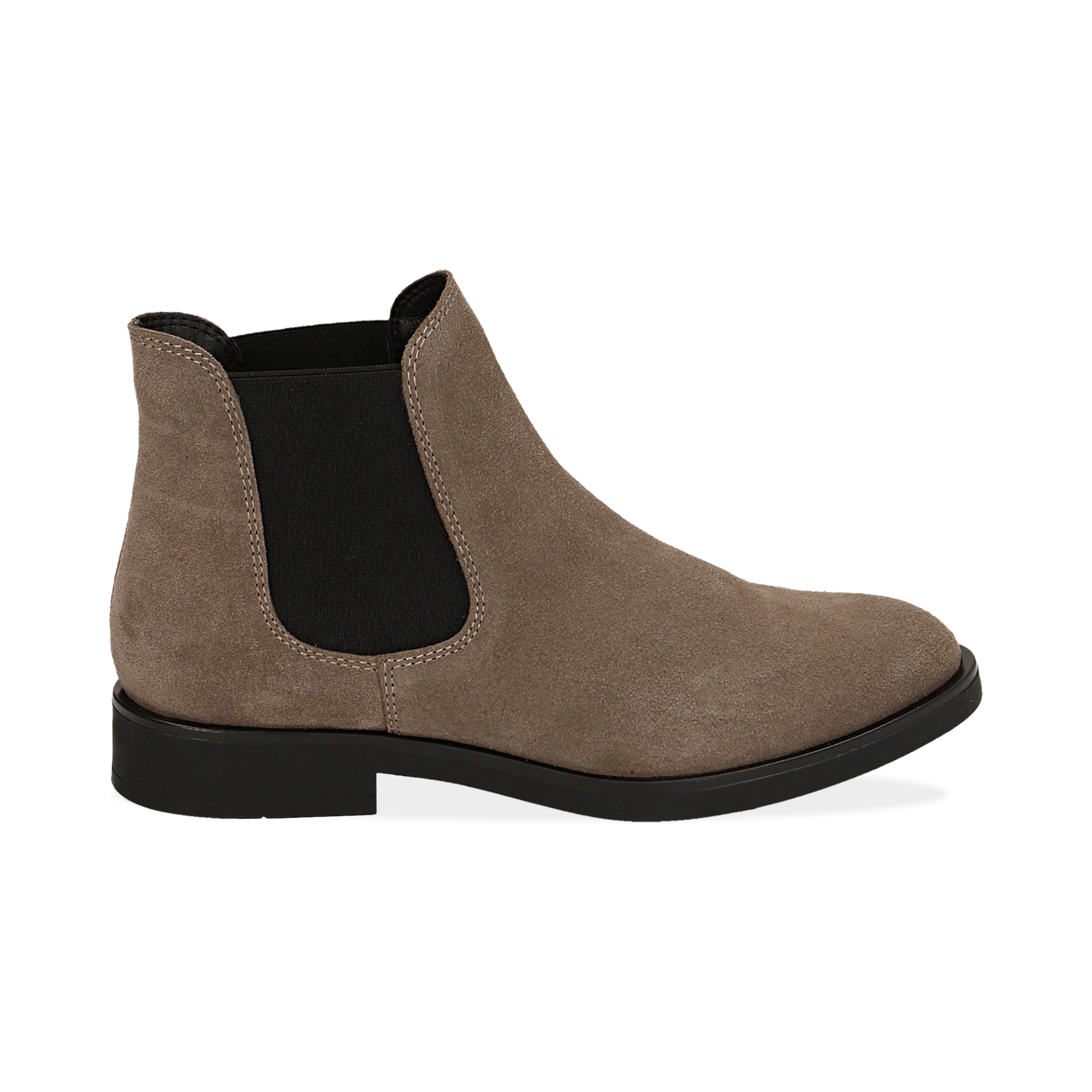 Chelsea boots taupe in camoscio